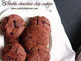 Double Chocolate Cookies Recipe (Eggless)
