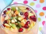 Fruit Custard Recipe | How To Make Fruit Custard | Fruit Salad With Custard