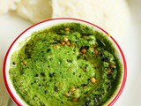 Pudina chutney recipe for idli, dosa | Mint chutney recipe with coconut