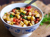 Roasted Corn Salad Recipe | How To Make Roasted Corn Salad