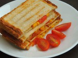 Grilled Sweet Corn,Cherry Tomato & Cheese Sandwich