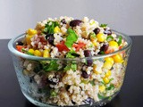 Quinoa salad with Black beans & Sweet corn