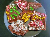 Sprinkle Chocolate Bark (Easy Holiday Treats)