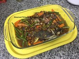 Saucey Steamed Thilapia with Vegetables