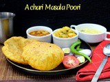 Achari Masala Poori ~ a to z Indian Pooris