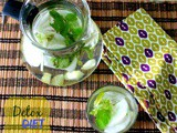 Detox Drink with Cucumber, Mint, and Amla
