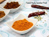 How to make Tamil Nadu Sambar Podi | Sambar Powder