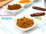 How to make Udupi Sambar Powder | Udupi Sambar Podi