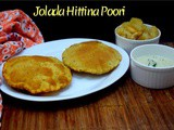 Jolada Hittina Poori ~ a to z Indian Pooris