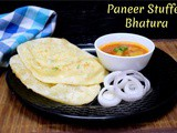 Paneer Stuffed Bhatura ~ a to z Indian Pooris