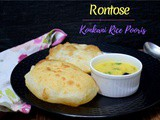 Rontose | Konkani Rice Poori ~ a to z Indian Pooris