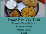 South Indian Non Veg Thali Menu List 6 ~ Prawns Gravy