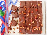 Rum and Raisin Brownies / Christmas Brownies