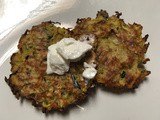 Baked Zucchini Pancakes using up those giant zucchini