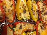 Cheesy Bacon Stuffed Mini Peppers Poppers