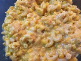 Cheesy Mac & Corn made in the microwave