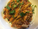 Chef Alli's Pressure Cooked Creamy Penne Pasta with Ground Beef