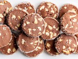 Chocolate Walnut Shortbread Ice Box Cookies