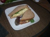 Egg-catly what i wanted for supper . . .  Egg Salad Sandwiches