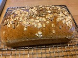 Land of Kansas Bread with wheat, sunflower seeds, flax, oats, honey & local milk, eggs & butter