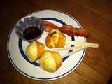 Pancake-Bacon Muffins on a Stick