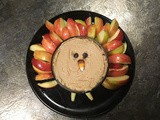 Peanut Butter Apple Dip becomes a turkey in a few easy steps
