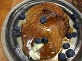 Power-packed Pancakes with yogurt, whole grains, walnuts & more