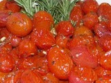 Roasted Cherry Tomatoes with garlic & rosemary