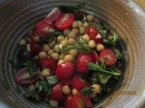 Tomato, Basil and Garbanzo Salad – a great way to utilize fresh herbs