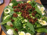Wilted Lettuce Salad with Hot Bacon Dressing