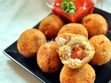 Five Spice Flavoured Cottage Cheese Balls Stuffed With Plums and Chinese Plum Sauce | Step Wise | Food Presentation Ideas-2