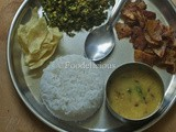 Lunch Menu-1: Karnataka Thali