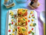 Corn canapes / corn sev canapes / indian canapes recipe