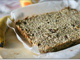 Barrette di avena, banane e semi- Oats, banana and seeds bars