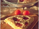 Focaccia con pomodorini ed erbe di provenza – Sourdough focaccia with cherry tomatoes and Provence herbs