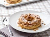 Pralinoise Paris-Brest (Choux pastry with hazelnut cream)