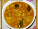 Chickpeas Curry Kerala Style