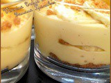 Verrine creme anglaise banane speculoos