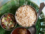 Mudhi mansa - Puffed Rice with Goat Meat Curry