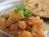 Shalgam Masala (Turnip cooked in Indian Spices)