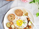 Breakfast Hash with Sunny Side Up Egg