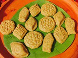 Nolen gurer sandesh/cottage cheese jaggery fudge
