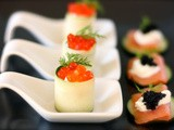 Caviar and Smoked Salmon Appetizers