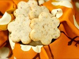 Cream cheese shortbread with toasted walnuts and orange zest