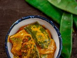 Sheemer Jhal | Bengali Shorshe Sheem | Broad Bean Curry with Mustard Paste