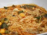 How to make vegetarian hot noodle soup in 20minutes