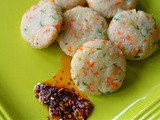 Spicy Courgette, carrot and ground rice steamed dumplings