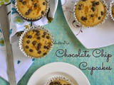 Chocolate Chip Cupcake Recipe | Eggless Butterless Recipes | 200th Post