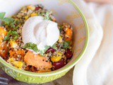 30-Minute Sweet Potato Quinoa Bowls {vegan option}