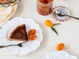 Almond, chocolate and cumquat tart with candied cumquats
